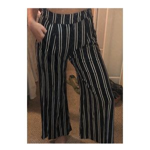 Trendy striped pants